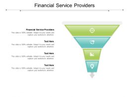 Financial Service Providers Ppt Powerpoint Presentation Ideas Graphics Cpb