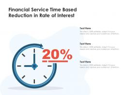 Financial Service Time Based Reduction In Rate Of Interest
