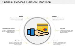 Financial Services Card On Hand Icon
