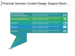Financial Services Content Design Support Stock Strategy Marketing Cpb
