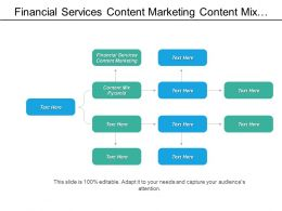 Financial Services Content Marketing Content Mix Pyramid Promotions Metrics Cpb