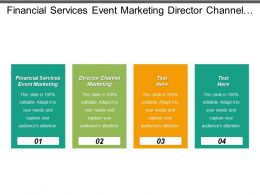 Financial Services Event Marketing Director Channel Marketing Fund Management Cpb