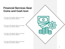 Financial Services Gear Coins And Cash Icon