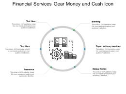 Financial Services Gear Money And Cash Icon