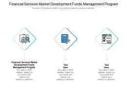 Financial Services Market Development Funds Management Program Ppt Powerpoint Presentation Model Cpb