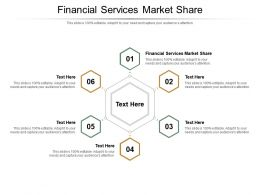 Financial Services Market Share Ppt Powerpoint Presentation Infographics Infographic Template Cpb