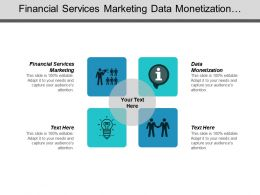 Financial Services Marketing Data Monetization Banking Operations Strategy Cpb