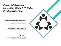 Financial Services Marketing Stats B2b Sales Productivity Plan Cpb
