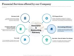 Financial Services Offered By Our Company Tax Ppt Powerpoint Presentation Infographics Maker
