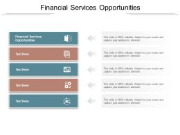 Financial Services Opportunities Ppt Powerpoint Presentation Styles Tips Cpb