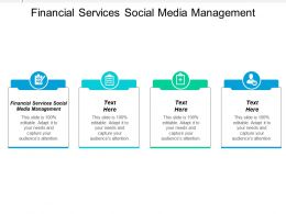 Financial Services Social Media Management Ppt Powerpoint Presentation Ideas Background Images Cpb