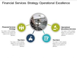 Financial Services Strategy Operational Excellence Services Operational Excellence Cpb