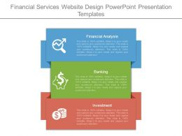 Financial Services Website Design Powerpoint Presentation Templates