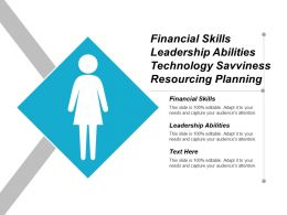 Financial Skills Leadership Abilities Technology Savviness Resourcing Planning Cpb