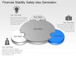 Financial Stability Safety Idea Generation Powerpoint Template Slide