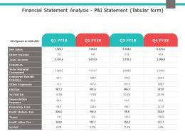 Financial Statement Analysis P And I Statement Expenses Ppt Powerpoint Slides