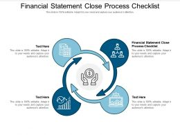 Financial Statement Close Process Checklist Ppt Powerpoint Presentation Pictures Portfolio Cpb