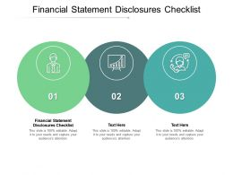 Financial Statement Disclosures Checklist Ppt Powerpoint Presentation Outline Cpb
