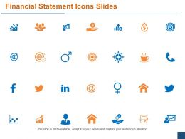 Financial Statement Icons Slides Ppt Powerpoint Presentation File Introduction
