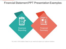 Financial Statement Ppt Presentation Examples