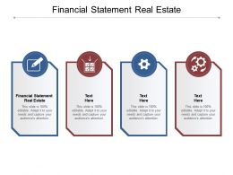 Financial Statement Real Estate Ppt Powerpoint Presentation Summary Slides Cpb