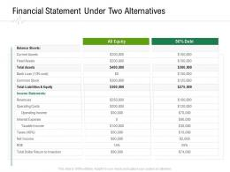 Financial Statement Under Two Alternatives Hospital Administration Ppt Gallery Samples