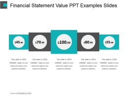 Financial Statement Value Ppt Examples Slides