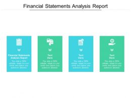 Financial Statements Analysis Report Ppt Powerpoint Presentation Slides Deck Cpb