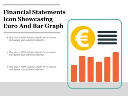 Financial Statements Icon Showcasing Euro And Bar Graph