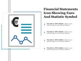 Financial Statements Icon Showing Euro And Statistic Symbol