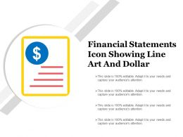 Financial Statements Icon Showing Line Art And Dollar