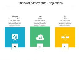 Financial Statements Projections Ppt Powerpoint Presentation Portfolio Aids Cpb
