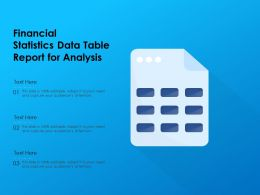 Financial Statistics Data Table Report For Analysis