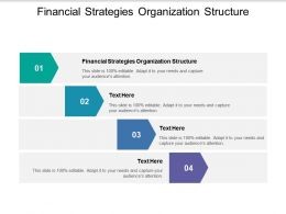 Financial Strategies Organization Structure Ppt Powerpoint Presentation Gallery Example Introduction Cpb