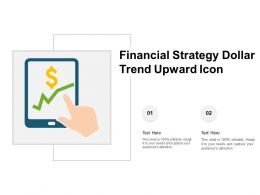 Financial Strategy Dollar Trend Upward Icon