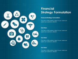Financial Strategy Formulation Ppt Powerpoint Presentation Styles Show