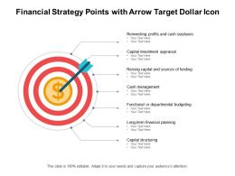Financial Strategy Points With Arrow Target Dollar Icon