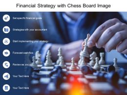 Financial Strategy With Chess Board Image