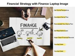 Financial Strategy With Finance Laptop Image