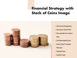Financial Strategy With Stack Of Coins Image