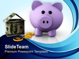 Financial Success House Future Powerpoint Templates Themes For Business