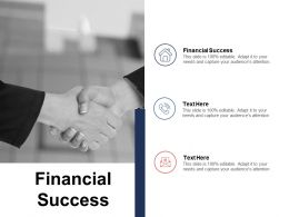 Financial Success Ppt Powerpoint Presentation Ideas Example Cpb