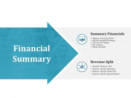 Financial Summary Ppt File Example File