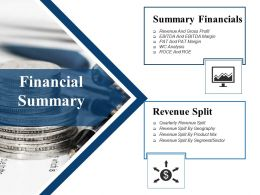 Financial Summary Ppt Images Gallery