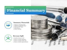 Financial Summary Ppt Outline
