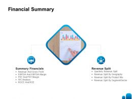 Financial Summary Ppt Powerpoint Presentation Model Picture