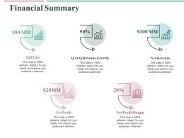 Financial Summary Ppt Professional Format Ideas