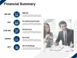 Financial Summary Revenue Growth Ppt Powerpoint Presentation Slides Guide