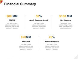 Financial Summary Revenue H102 Ppt Powerpoint Presentation Background Images