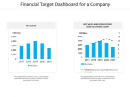 Financial Target Dashboard For A Company